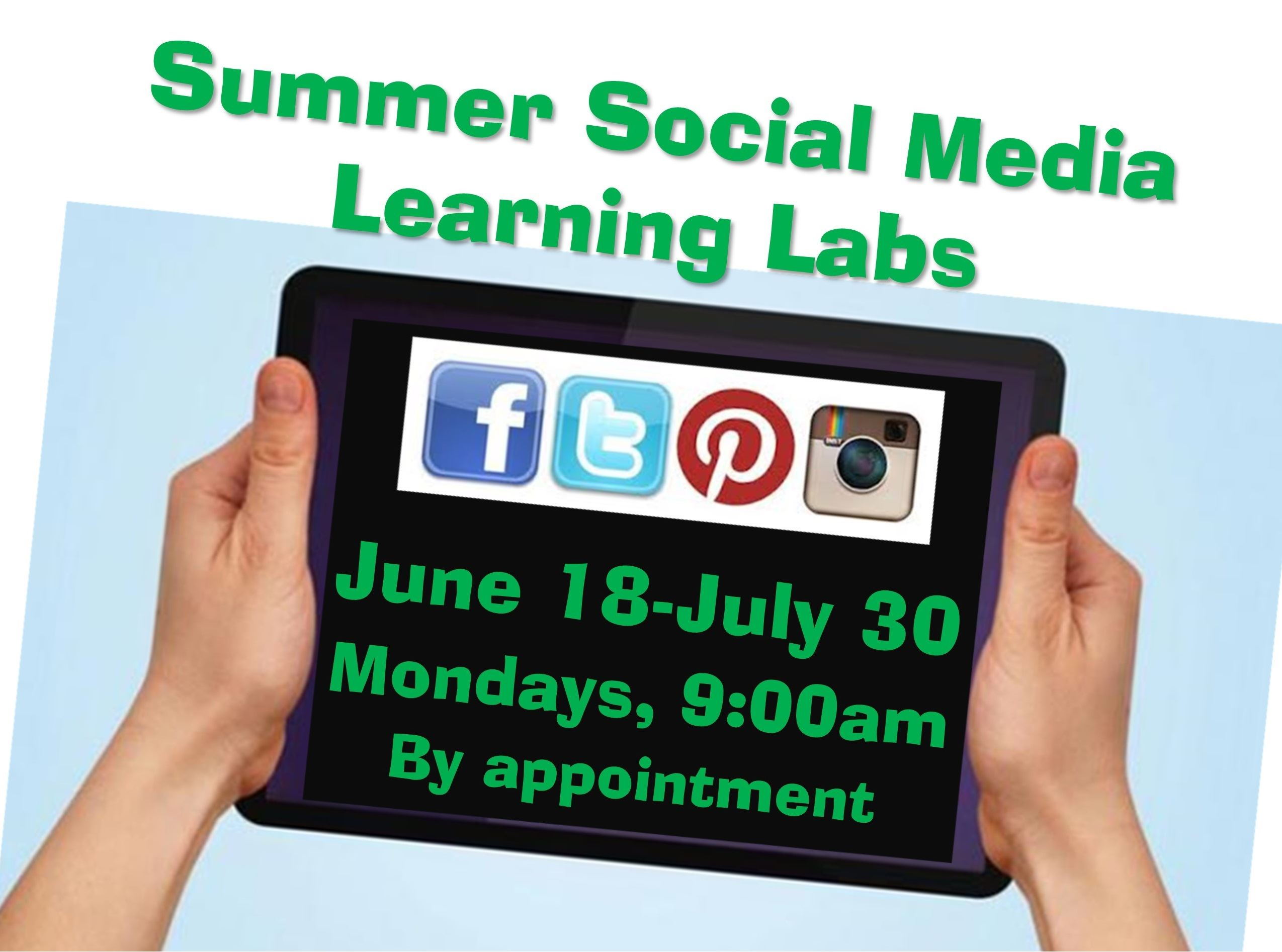 WEB-Summer Social Media Learning Lab