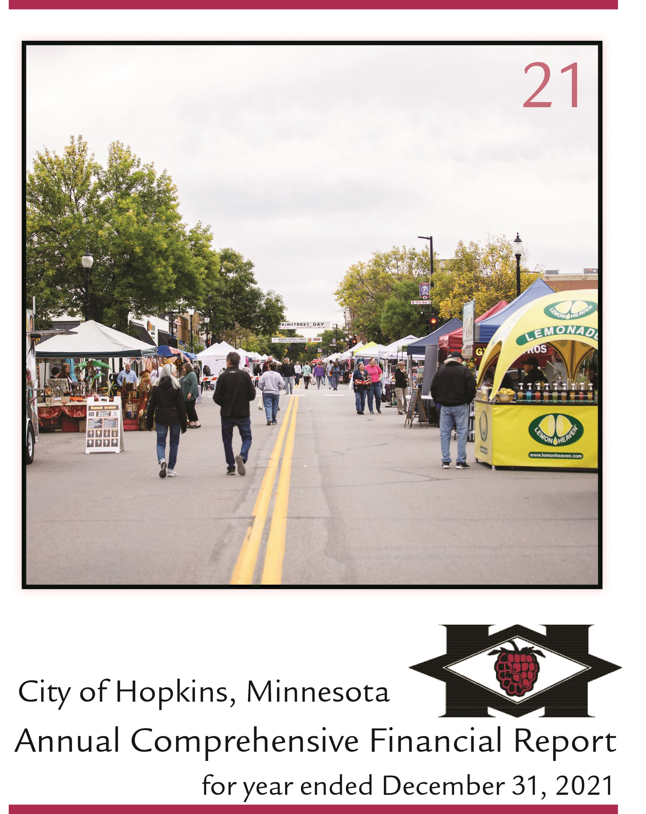 City of Hopkins, Minnesota Comprehensive Annual Financial Report